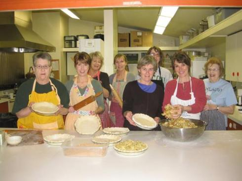 Pie Baking for the Food Bank