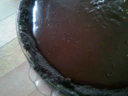 untopped chocolate cream pie
