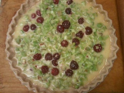 Bajr's Rhubarb Custard Pie