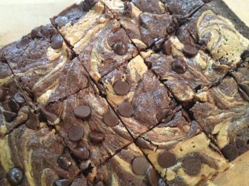 Gluten Free Peanut Butter Swirl Brownies