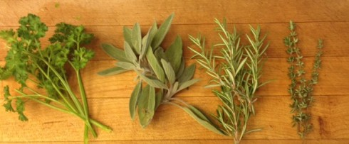 parsely, sage, rosemary, and thyme