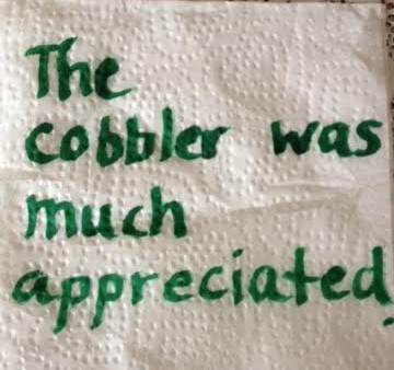 thank you napkin