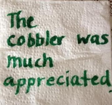 thank you napkin