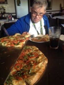 Pizza with Dad at Zuccarelli's