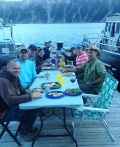 Dinner on the dock at Wizard Island
