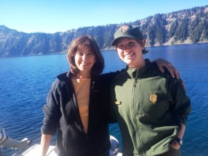 Kristin and me on Wizard Island