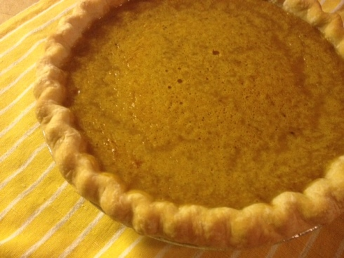 pumpkin pie for george